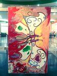 """Admu"" by Sherwin Gonzales. Acrylic on canvas. (Aurora)"